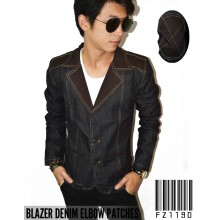 Blazer Denim Elbow Patches
