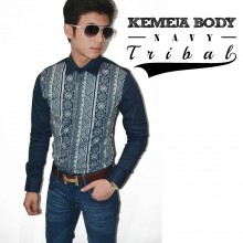 Kemeja Body Tribal Navy