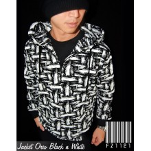 Jacket Oreo Black n White