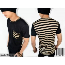 Hazelnut Stripe Tee