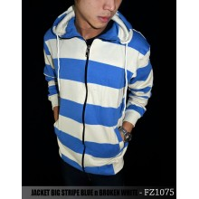 Jacket Big Stripe Blue n Broken White