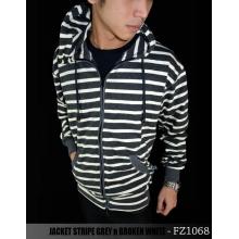 Jacket Stripe Grey n Broken White