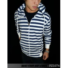 Jacket Stripe Navy n White