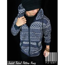Jacket Tribal Pattern Navy