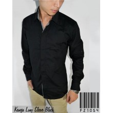 Kemeja Long Sleeve Black Combination