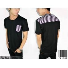 Plain Black Pocket Stripe