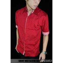 Kemeja Mid Sleeve Red Combination