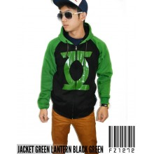 Jacket Green Lantern Black Green - Jacket Superhero