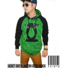 Jacket Green Lantern Green Black - Jacket Superhero