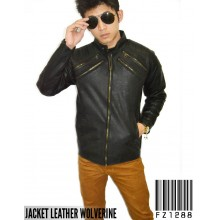 Jacket Leather Wolverine Black