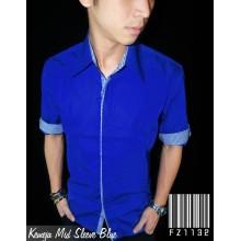 Kemeja Mid Sleeve Blue Combination