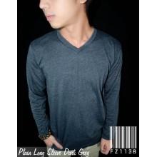 Plain Tee Long Sleeve Dark Grey