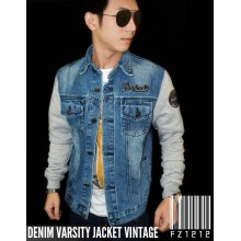 Denim Varsity Jacket Vintage