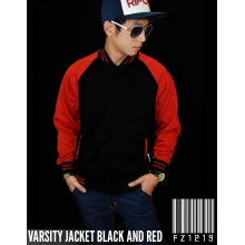 Jacket Varsity Black and Red