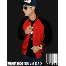 Jacket Varsity Red and Black