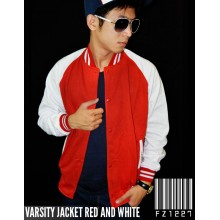 Jacket Varsity Red and White