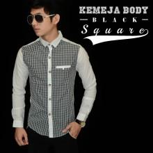 Kemeja Body Square Black