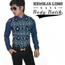 Kemeja Body Batik Navy