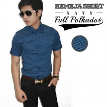 Kemeja Short Full Polka Dot