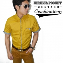 Kemeja Pocket Combination Mustard