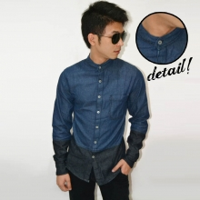 Kemeja Denim Cut and Sew