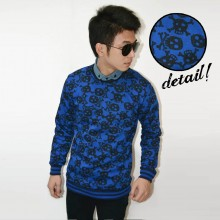 Sweater Vingate Skull Blue