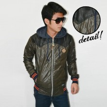 Jacket Hoodie Three Combination Quilted