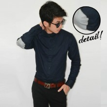 Kemeja Shanghai Elbow Patch Navy