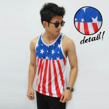 Mens Tank Top Star Vector - Fitness Clothing