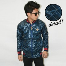 Jacket Varsity Quilted Aqua Marine