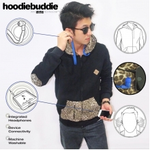 Hoodiebuddie Leopard Elbow with Earphone