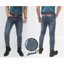 Jeans Pants Thunder Ripped Washed Grey