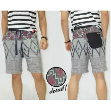 Sweat Shorts Pyramids Tribal Soft Grey