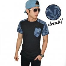 Batik Leaf Combination Black
