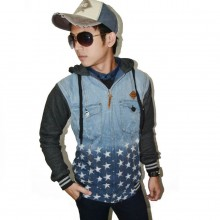 Jacket Denim Hoodie Bottom Stars