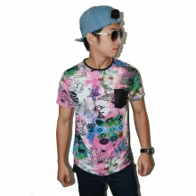 Street Abstract Painting Tee