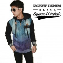 Jacket Hoodie Denim Squeeze Washed *Limited Edition