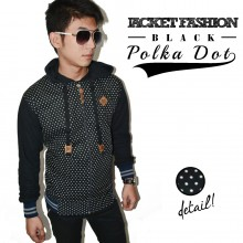 Jacket Fashion Polkadot Black