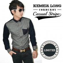 Kemeja Casual Stripe Corduroy *Limited Edition
