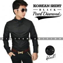 Kemeja Korean Pearl Diamond Black *Limited Edition