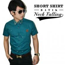 Kemeja Short Batik Neck Falling
