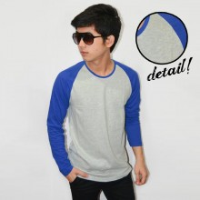 Raglan Tee Long Sleeve Soft Grey Blue
