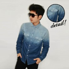 Kemeja Denim Bright Dim Gradation Blue