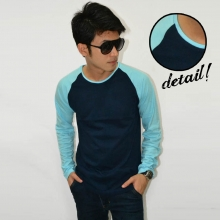 Raglan Tee Long Sleeve Navy SoftBlue