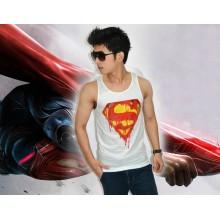 Tank Top Superman Burning White - SUPERHERO T-SHIRT
