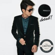 Blazer Fashion Black Velvet