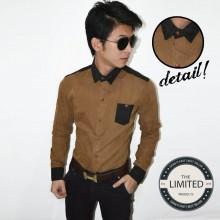Long Shirt Brown Linen Silk
