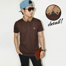 Polo Suede Neck Brown