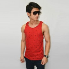 Tank Top Just Do It Pattern Red