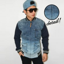 Jacket Varsity Denim Dim Light